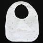 Polka Dot Linen Velcro Bib With Name